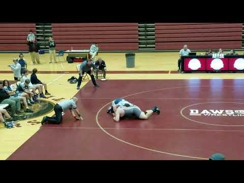 Devin wrestling against Chestatee High School. Won with pin.