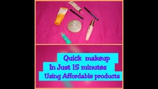 Easy  makeup  in just 15 minutes   Food &Home  