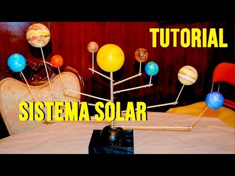 TUTORIAL: cómo hacer  SISTEMA SOLAR o planetario giratorio fácil para niños