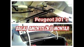 Peugeot 301'e Bagaj Amortisörü Montajı