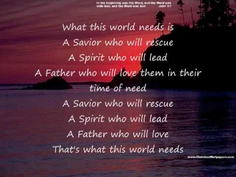 Casting Crowns-What This World Needs
