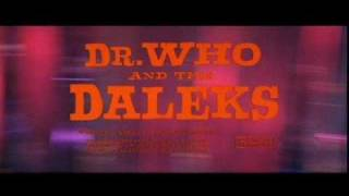 Dr. Who and the Daleks (1965) Daleks and Thals by Malcolm Lockyer