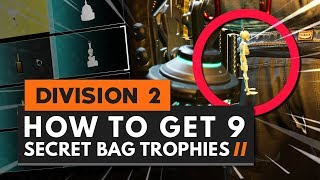 How to Get 9 SECRET Backpack Trophies (Keychains) in The Division 2