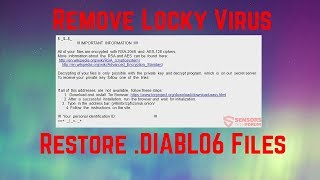 How to Remove .DIABLO6 Virus (Restore Files)