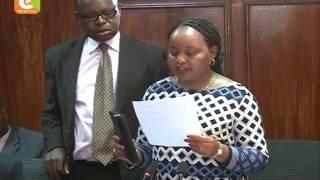 Ann Waiguru afika mbele ya kamati ya bunge