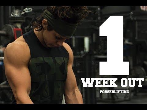 1 WEEK OUT | 1ST POWERLIFTING MEET | DANA LINN BAILEY