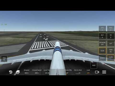 Infinite Flight Simulator Malaysia Airlines a380 (taxi and takeoff)