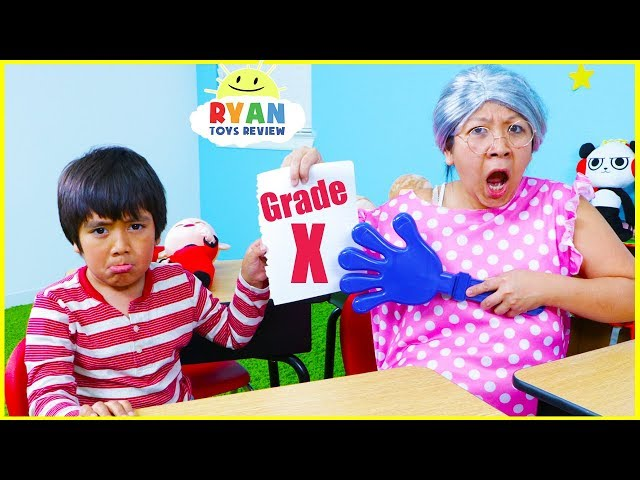 Ryan Pretend Play Learning Healthy Choices at School!!!