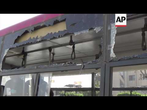 Explosion hits bus in Egyptian capital, wounding at least 5