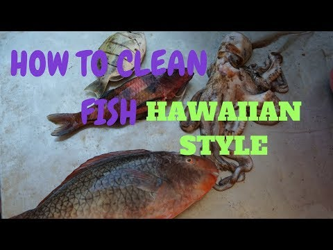 How To Clean & Prepare Your Fish!! Hawaiian Style!!
