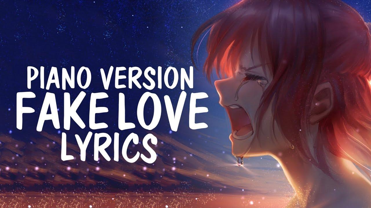 Nightcore Fake Love English Cover Piano Female Bts 방탄소년단 Lyrics