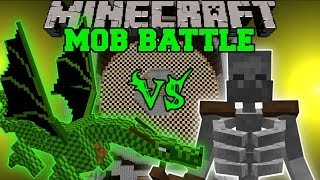 Mutant Skeleton Vs. Green Dragon - Minecraft Mob Battles - Mutant Creatures Mod Battle