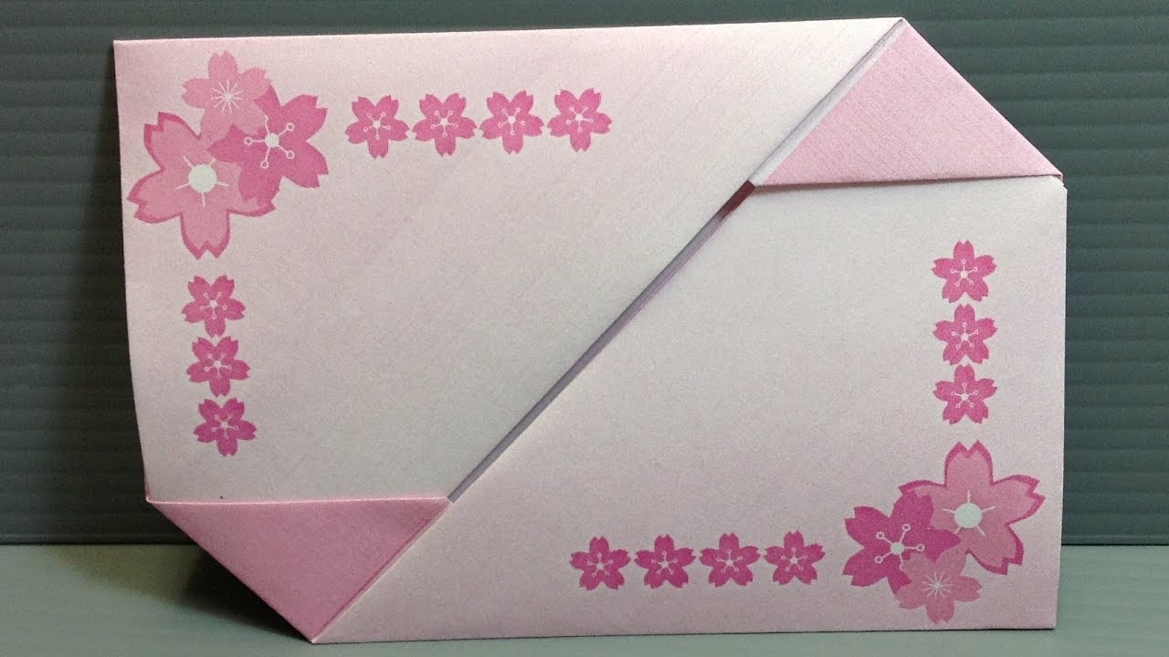 Origami Sakura Blossom Gift Card Envelope Print At Home