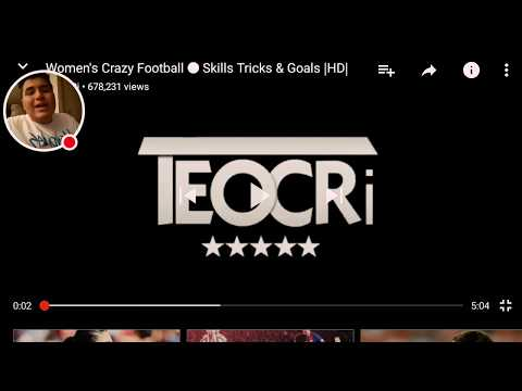 Women's crazy football skills tricks and Goals [ Reaction ]