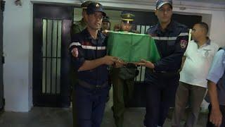 الصور الأولى لنقل جثمان الطفلة نهال إلى مسقط رأسها بوهران