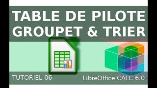 LibreOffice Calc - table de pilote - grouper et trier