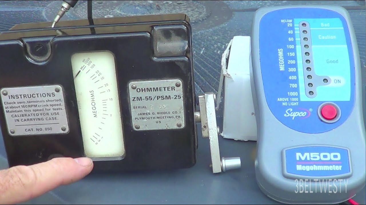 Megger Supco M500 And Biddle Zm55 On Trane Hvac Youtube