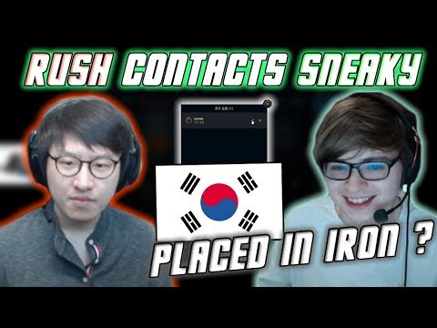Rush Contacts Sneaky in Korea | Sneaky Places in KR Iron (Best KR Bootcamp Moments #1)