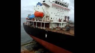 Launching kapal panderman di lamongan marine industry