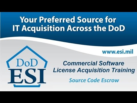 Source Code Escrow - Part 1