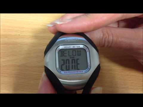 Pulse QT Pedometer HR Monitor Heart Rate Zone Setup