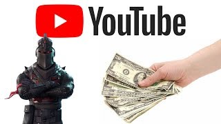 Buying The Black Knight Skin in Fortnite With My Ad Revenue!! #NotClickBait