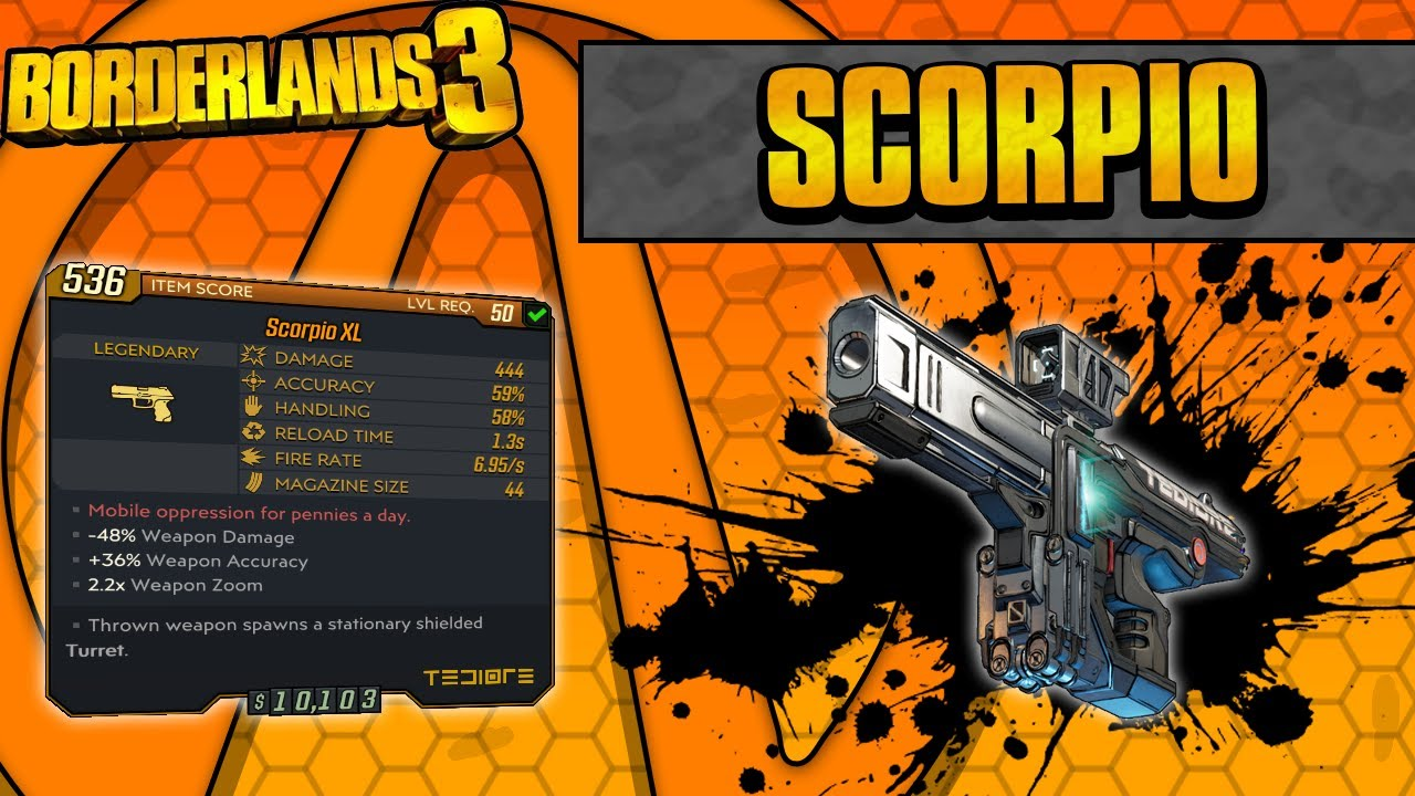 Borderlands 3 | Scorpio Legendary Weapon Guide (Roland's Turret!) thumbnail