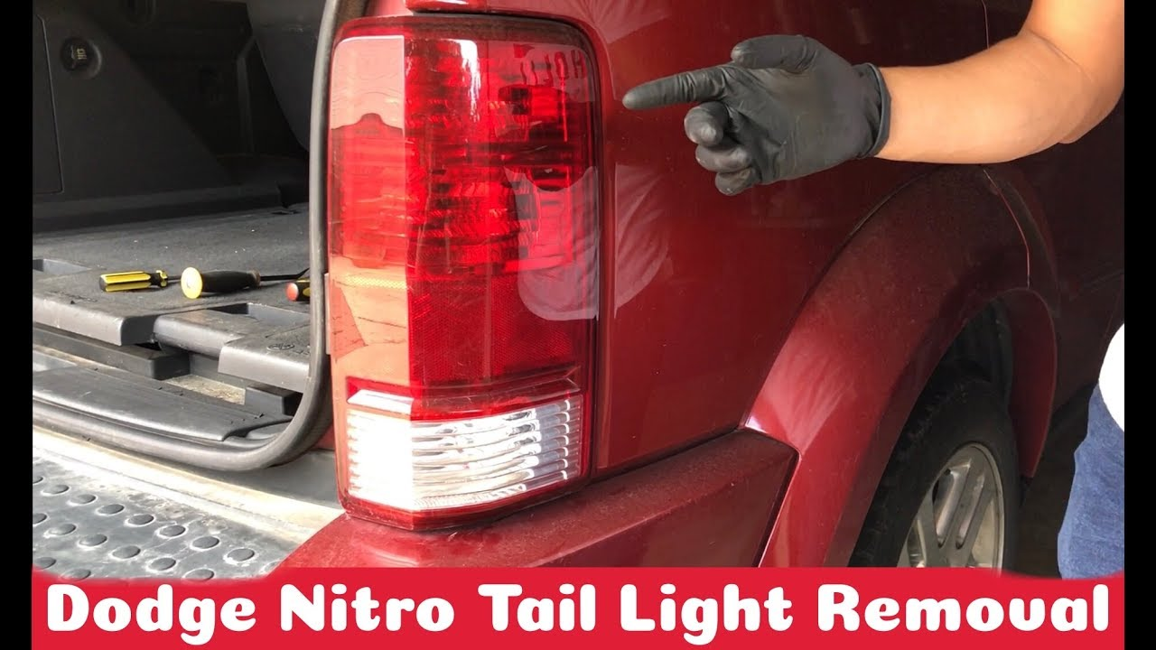 replace tail light  dodge nitro    diy youtube