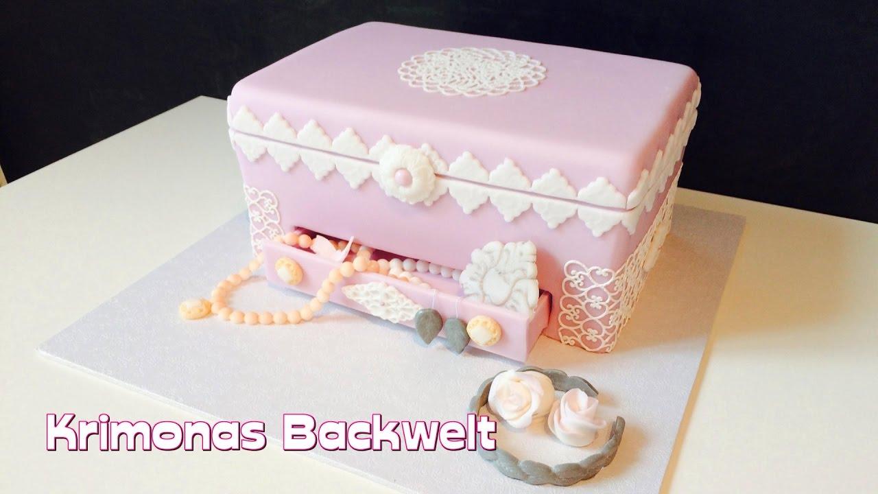 Vintage Schmuckschatulle Fondant Torte Vintage Jewelery Box