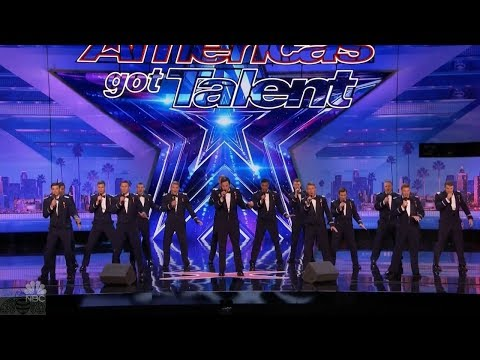 America's Got Talent 2017 In The Stairwell Airforce Academy Acapela Just the Intro and Commments