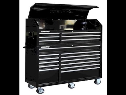 husky tool box 16 drawer tool chest and roll cab review. Black Bedroom Furniture Sets. Home Design Ideas