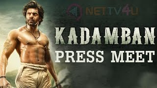 Kadamban movie press meet | arya | ragava | s r sathish kumar | r b choudary