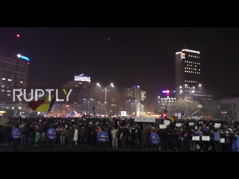 Romania: Anti-corruption protests continue in Bucharest after criminal law changes