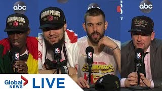 Toronto Raptors hold end of season press conference after championship win | LIVE