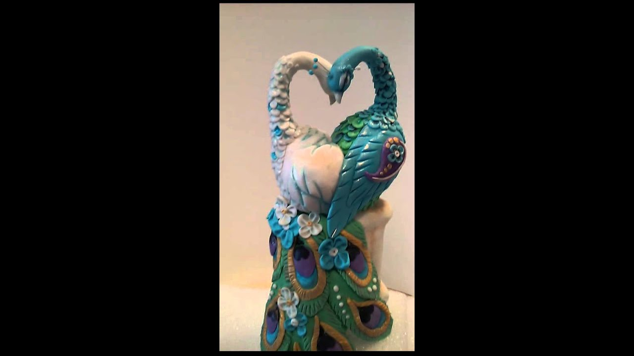 peacock wedding cake topper peacock cake topper 18161
