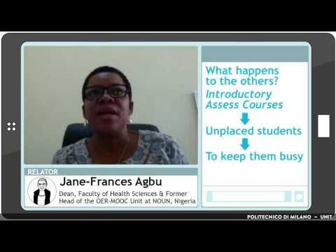 MOOCs and OERs at NOUN (Jane-Frances Agbu)