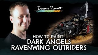 How to Paint: Dark Angels Ravenwing Outrider.
