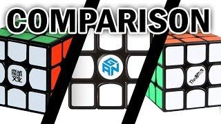 Speedcube Comparison | Weilong GTS / Gans Air / Valk 3