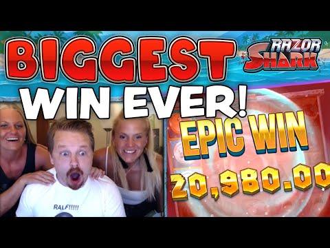 SUPER MEGA WIN - RAZOR SHARK (MY BIGGEST EVER SLOT WIN!!!)