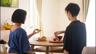 穏やかな日常を過ごすコツ - 鮭のホイル焼き 生クリームで作るチョコスコーン Tips of spending my days calmly  HidaMari Cooking