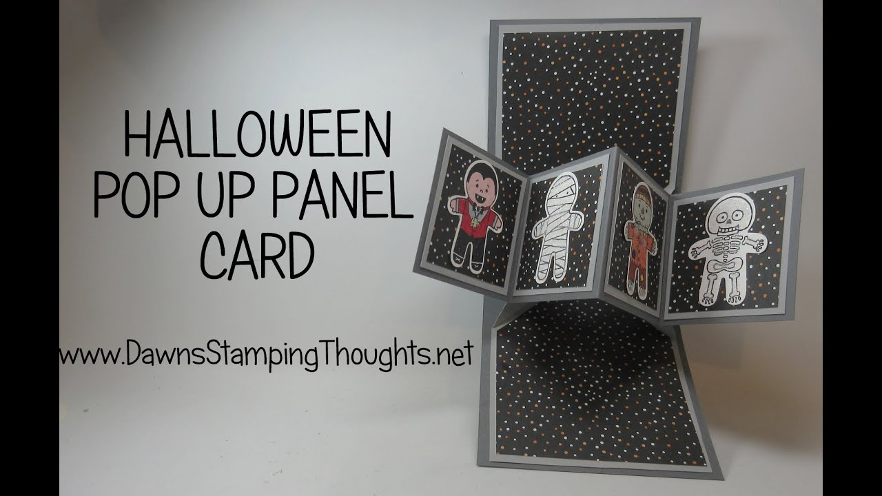 pop up panel card using cookie cutter halloween stamp set from stampin 39 up youtube. Black Bedroom Furniture Sets. Home Design Ideas