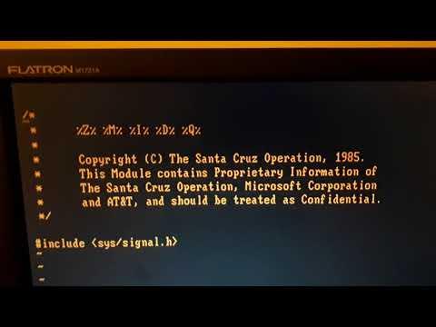 SCO Xenix 2.1.2 no IBM 5150