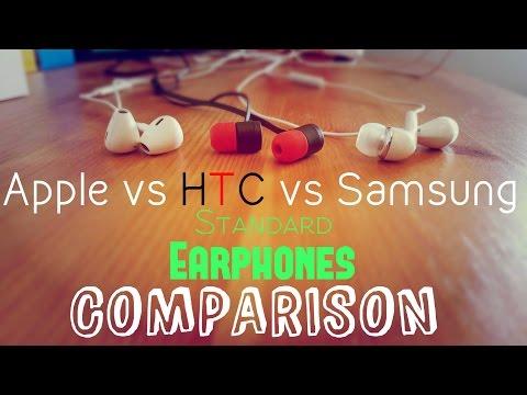 Apple EarPods vs Samsung vs HTC One Earphones Comparison