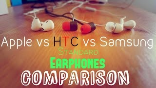 Apple EarPods vs Samsung vs HTC One Earphones Comparison