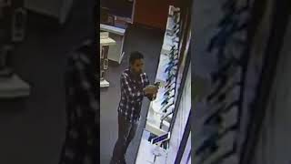 Man steals display phones from AT&T store