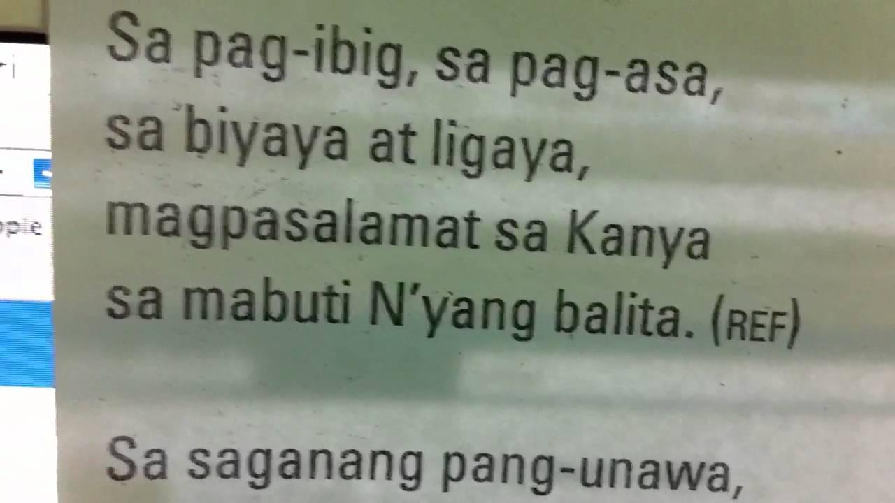 Bukas Palad - Magpasalamat Sa Kanya Lyrics | Musixmatch