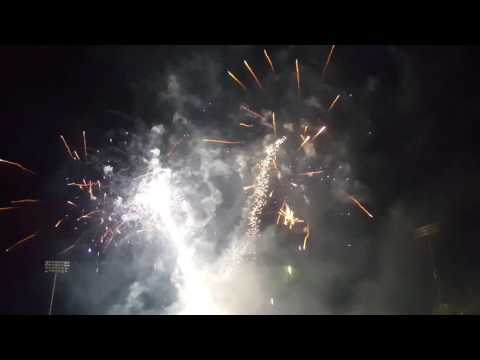 Hove Cricket, Central County Ground fireworks 4K