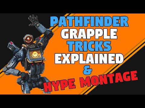 Grapple Enemies, Drop Ships And Much More In Apex Legends   Pathfinder Tricks Montage & Guide