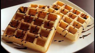 Домашние венские вафли в электровафельнице | Homemade Viennese waffles in a waffle iron