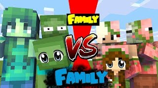 FAMILY VS FAMILY - WHO IS THE STRONGEST Zombie or Herobrine MONSTER SCHOOL (Minecraft Animation)